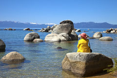 Lake Tahoe, la Californie. Photographie stock libre de droits