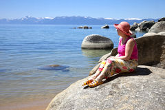 Lake Tahoe, la Californie. Photo stock