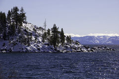 Lake Tahoe - Lake with Snow Stock Image