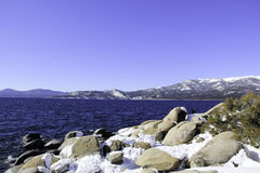 Lake Tahoe - Lake with Snow Stock Images