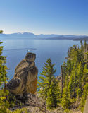 Lake Tahoe Lookout. Looking out over Lake Tahoe Stock Photos