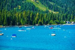Lake Tahoe Marina Royalty Free Stock Photography
