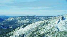 Lake tahoe mountain wintery landscape stock footage