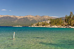 Lake Tahoe and mountains Stock Photos