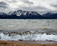 Lake Tahoe. Mt. Tallac from Nevada beach Lake Tahoe royalty free stock images