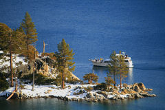 Lake Tahoe no inverno Fotografia de Stock Royalty Free