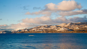 Lake Tahoe Panorama. Panoramic view of Lake Tahoe in Winter Stock Photography