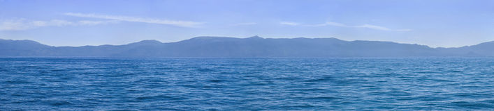 Lake Tahoe Panorama. A panorma of Lake Tahoe Stock Photo
