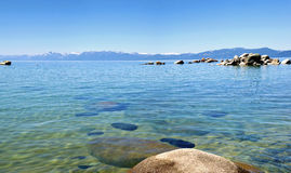 Lake Tahoe panorama, California. Royalty Free Stock Image