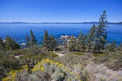 Lake Tahoe Panorama Stock Images