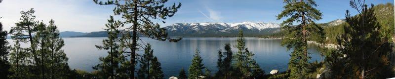 Lake Tahoe panoramisch stockfotos
