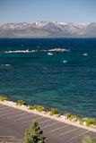 Lake Tahoe. And parking area Royalty Free Stock Photo