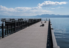 Lake Tahoe pier Stock Photo