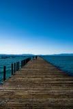 Lake Tahoe pir Arkivbilder