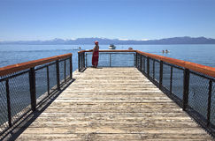 Lake Tahoe que visita, California. Imagen de archivo libre de regalías