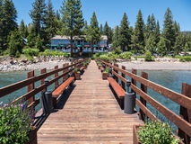 Lake Tahoe resort pier. And boat dock Royalty Free Stock Photo
