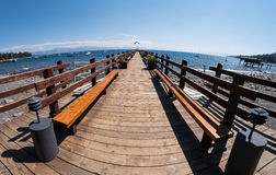 Lake Tahoe resort pier Stock Images