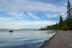 Lake Tahoe shore. Shoreline of lake Tahoe, CA Royalty Free Stock Image