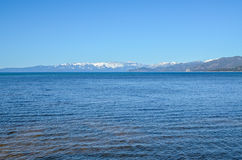 Lake Tahoe shore in winter Royalty Free Stock Images