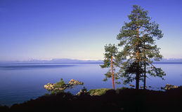 Lake Tahoe shoreline. A view of the Sand Harbor area of Lake Tahoe Royalty Free Stock Images