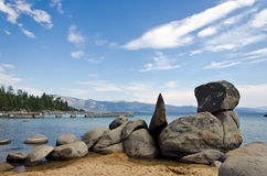 Lake Tahoe shoreline Royaltyfria Bilder
