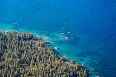 Lake Tahoe Shoreline and Water Stock Image