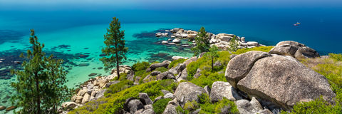 Lake Tahoe shorline Stock Photos