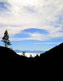 Lake Tahoe Silhoutte Arkivfoton