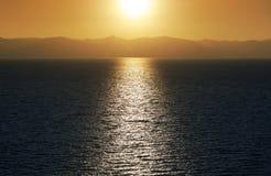 Lake Tahoe solnedgång arkivbild