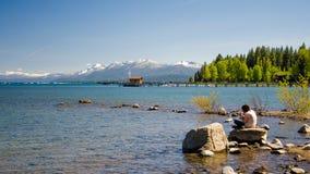 Lake Tahoe. South lake Tahoe in California, America Stock Images