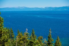 Lake Tahoe Summer Panorama Stock Photo