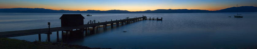 Lake Tahoe Sunrise. Pier in Lake Tahoe during sunrise Stock Photos