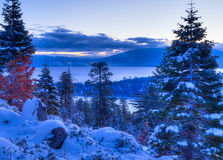 Lake Tahoe. Sunrises over Lake Tahoe in California Royalty Free Stock Images