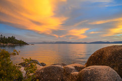 Lake Tahoe Sunset. Sunset in lake Tahoe, CA Stock Photography