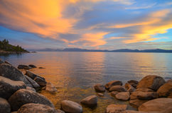 Lake Tahoe Sunset. Sunset in lake Tahoe, CA Stock Photos