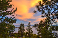 Lake Tahoe Sunset. Sunset in lake Tahoe, CA Royalty Free Stock Photo