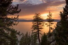 Lake Tahoe Sunset Stock Photos