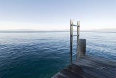 Lake tahoe swimming pier. Dock for swimming at lake tahoe royalty free stock photos