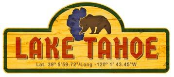 Lake Tahoe teckenträ Nevada California royaltyfri illustrationer