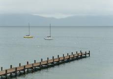 Lake Tahoe vårstorm Fotografering för Bildbyråer