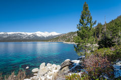 Lake Tahoe. With view on Sierra Nevada mountains royalty free stock photo