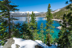 Lake Tahoe. With view on Sierra Nevada mountains royalty free stock image