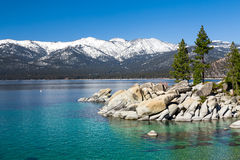 Lake Tahoe. With view on Sierra Nevada mountains stock image