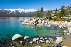 Lake Tahoe. With view on Sierra Nevada mountains stock images