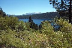 Lake Tahoe View. View of Lake Tahoe through the trees Royalty Free Stock Photo