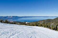 Lake Tahoe vinter Arkivfoto