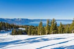 Lake Tahoe vinter Fotografering för Bildbyråer