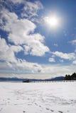 Lake Tahoe vinter Arkivbilder