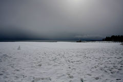 Lake Tahoe vinter Royaltyfri Bild