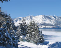 Lake Tahoe in Winter 2. Lake Tahoe after a winter storm Stock Image